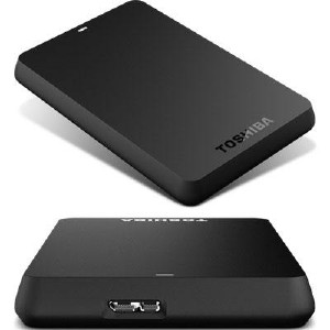 "Toshiba 1TB 2.5"" Canvio Basic USB 2.0/3.0 external HDD"